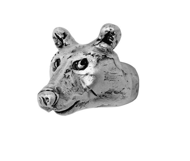 Small Junior Bear Head Knob - Cabinet And Drawer Knobs - by Rosalie Sherman Designs