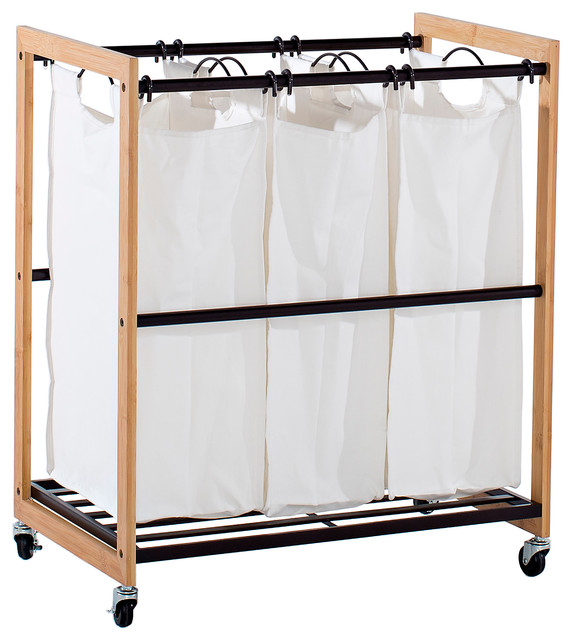 Trinity Ecostorage 3 Bag Bronze Laundry Cart