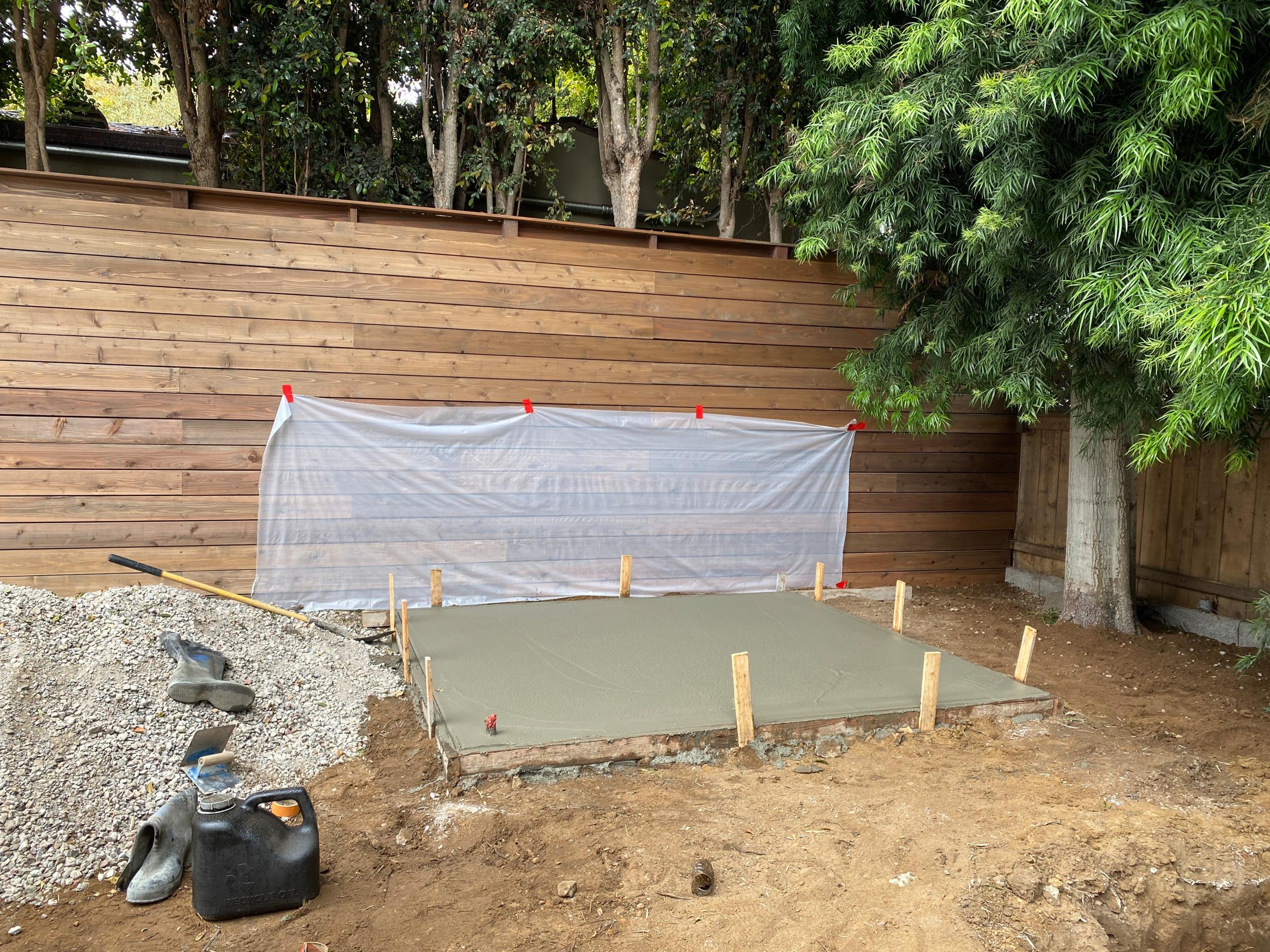 New Concrete for a Spa Pad in La Jolla Shores