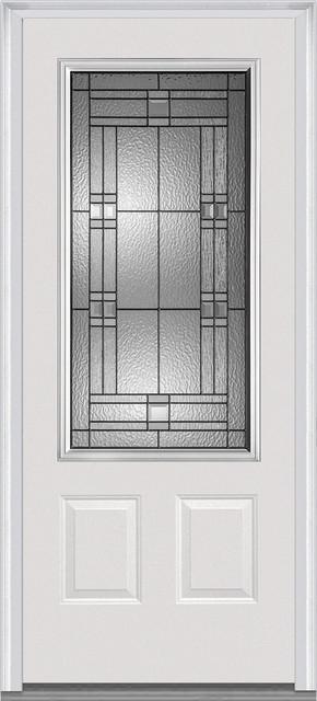white craftsman front door. roman 34 lite 2panel fiberglass smooth primed craftsman front doors by verona home design white door