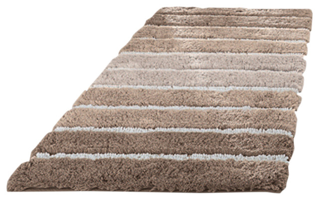 Eco Living Taupe Machine Washable Bathroom Rug Phoenix Medium