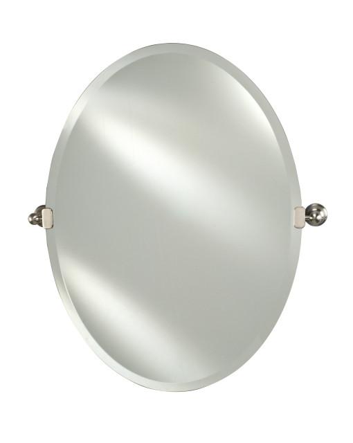 Radiance Frameless Bevel Oval Tilt, Tilt Bathroom Mirror Oval