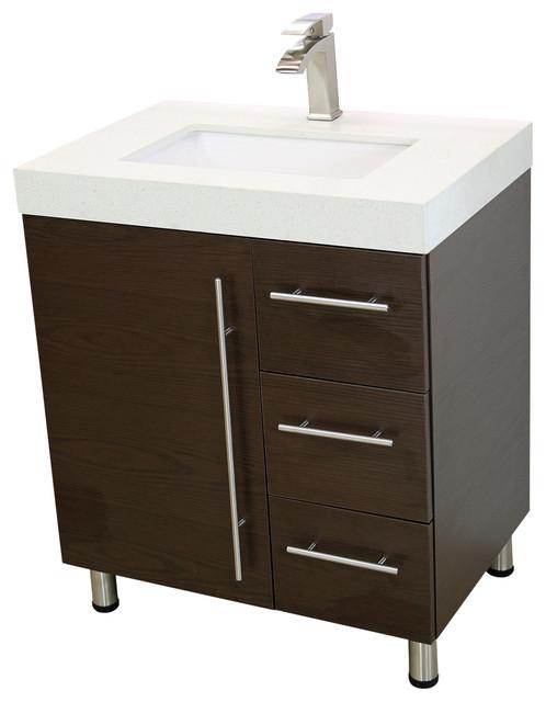 Windbay 30 Free Standing Bathroom Vanities Sink Ebony Modern Bathro