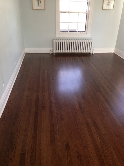 Red Oak Wood Floors with Dark Walnut Stain - Traditional ...