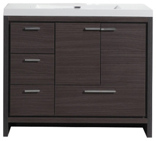 "MOD 42"" Free Standing Modern Bathroom Vanity - Contemporary - Bathroom Vanities And Sink ..."