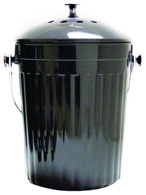 Delicieux Molded Bamboo Compost Bin 1.0 Gallon. Charcoal