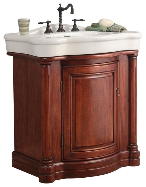 Wingate Rich Cherry Bathroom Vanity With Vitreous China Top