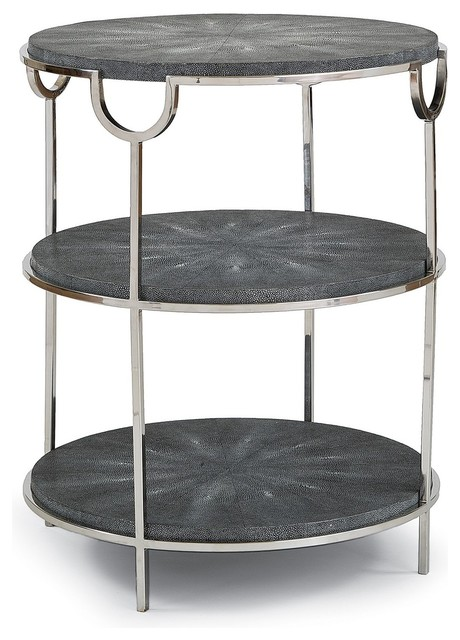 Regina andrew vogue side table charcoal coffee tables for Charcoal coffee table