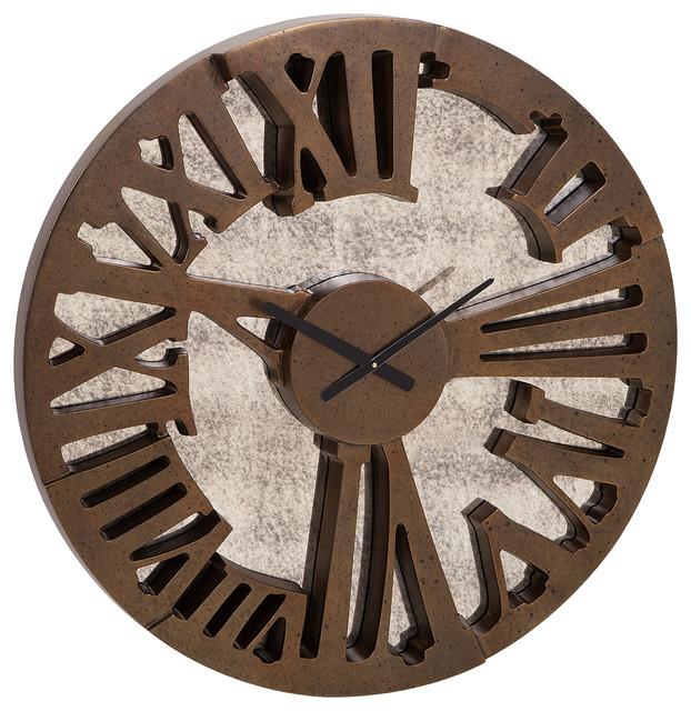 Mirror Wall Clock beautiful beth kushnick antique mirror wall clock - transitional