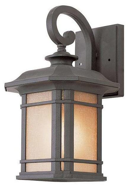Trans Globe Lighting 5820 Bk Outdoor Wall Light In Black Craftsman