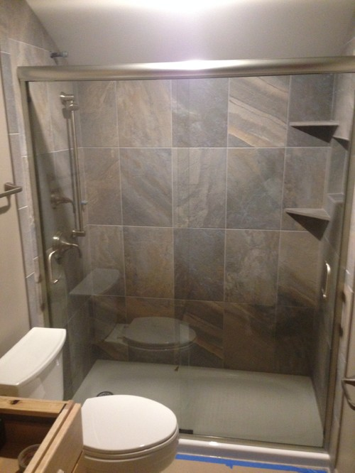 Help Kohler Cast Iron Shower Pan What Tile To Finish