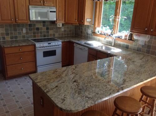 Flooring Help Yellow River Granite Golden Oak Cabinets