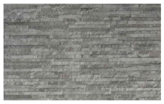 Splitface Wall Tile, Matte Grey, 1 m²