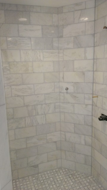 Master Bathroom Shower Carrara Marble 6 Quot X 12 Quot