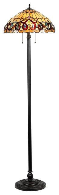 Serenity 2-Light Victorian Floor Lamp.