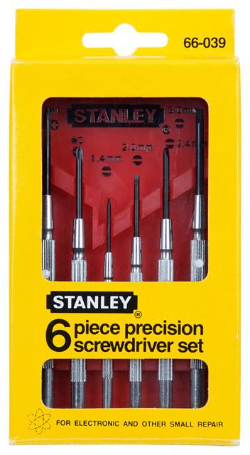 Stanley Hand Tools 6-Piece Jeweler&x27;s Screwdriver Set.