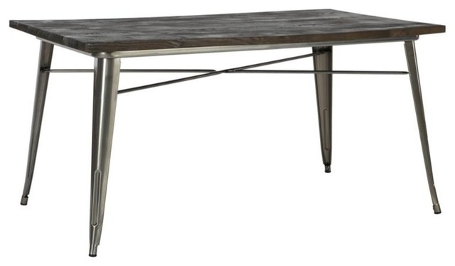 DHP   DHP Fusion Dining Table, Antique Gun Metal   Dining Tables
