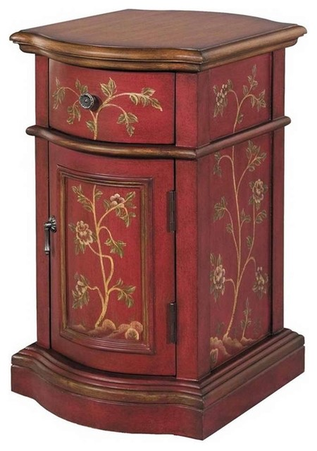 Stein World Reia Accent Cabinet Antique Red Brown 58527