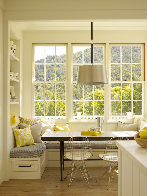 Bay window kitchen nook contemporary kitchen