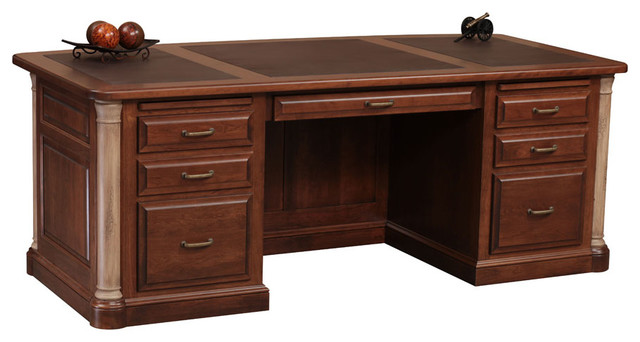Jefferson Premier Office Executive Desk Traditional Desks And Hutches