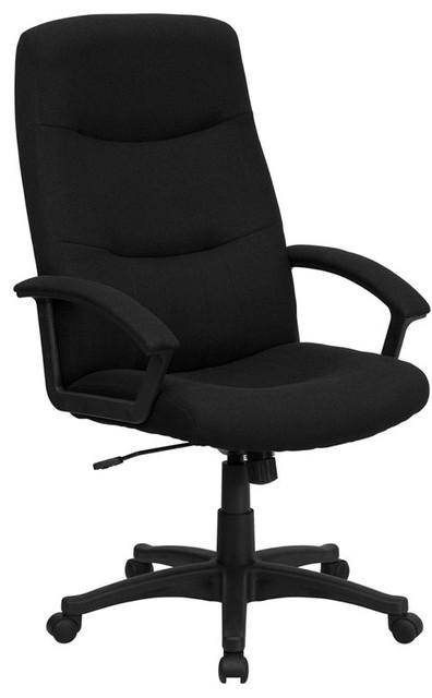 High Back Fabric Executive Swivel Office Chair, Black