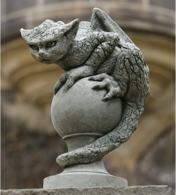 Campania International Oscar The Gargoyle Cast Stone Garden Statue