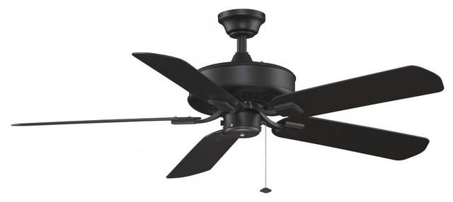 Black Ceiling Fan.