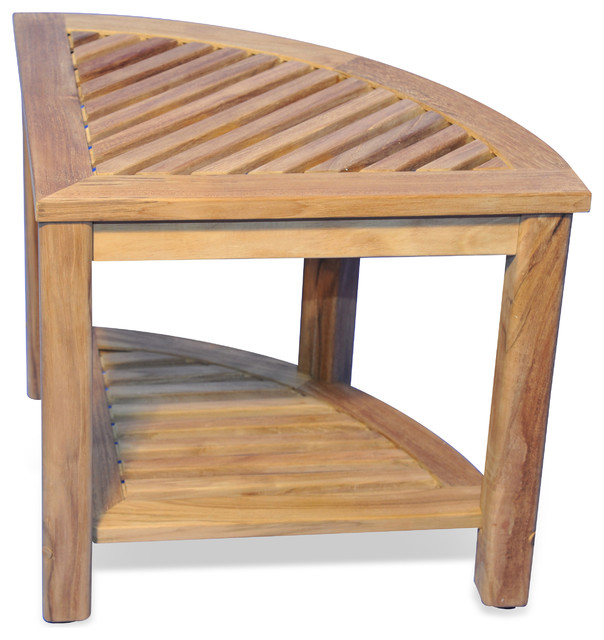Teak Corner Table or Shower Stool, 20X20X18H - Rustic - Shower ...
