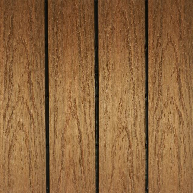 X Ultrashield Outdoor QuickDeck Tiles Set Of Traditional - Teak patio flooring 12x12