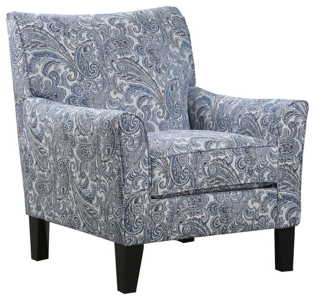 Terrific Simmons Upholstery Zulu Indigo Accent Chair Gmtry Best Dining Table And Chair Ideas Images Gmtryco