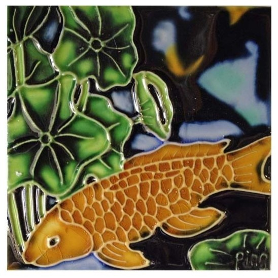 Gold Koi Fish Tile.