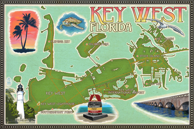 graphic relating to Printable Map of Key West known as \