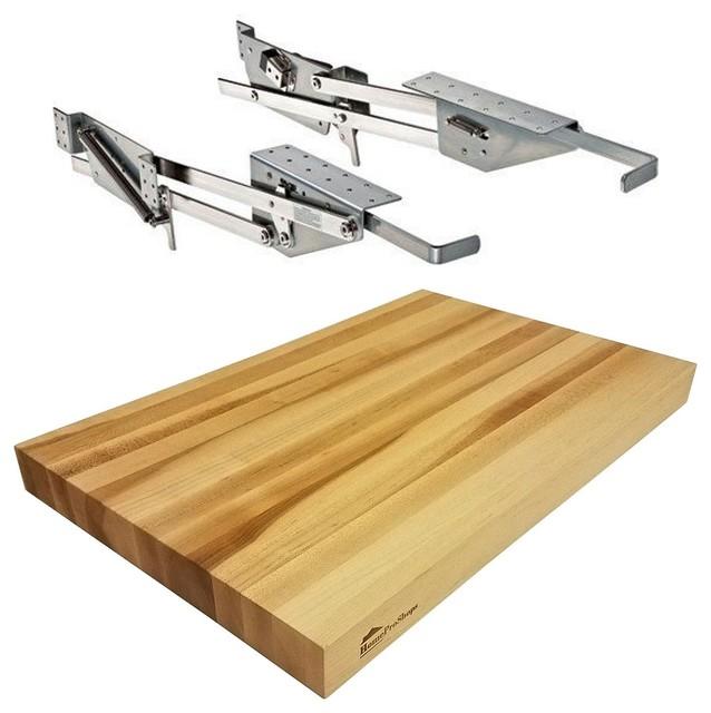 "Rev-A-Shelf RAS-ML-HDCR Mixer Lift and 1-1/2""x12""x19"" Wood Shelf Platform"