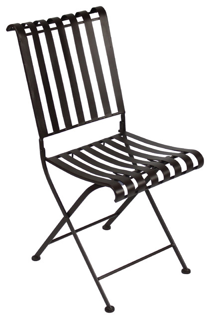 Rounded Metal Folding Chair, Metal Traditional Outdoor Folding Chairs