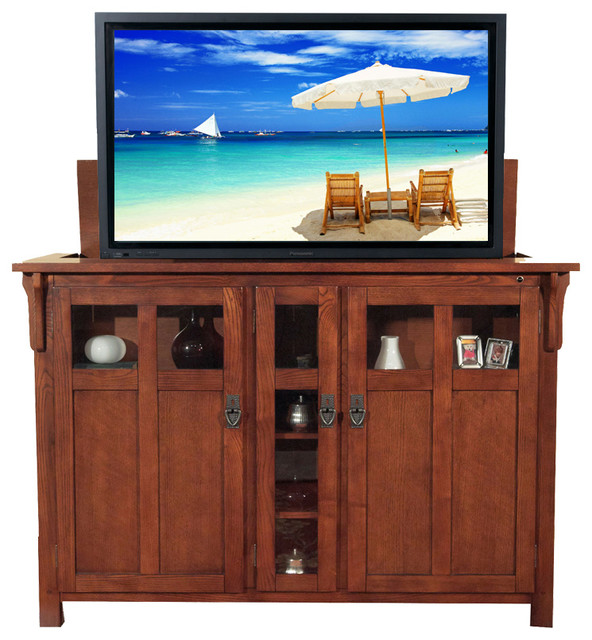 Shop Houzz | Touchstone Home Products Bungalow Chestnut TV Lift ...
