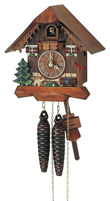 1 day black forest cuckoo clock wooden dial contemporary cuckoo clocks by shopladder - Contemporary cuckoo clock ...