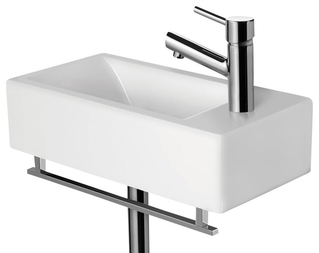 alfi brand ab108 small modern rectangular wall mounted bathroom sink modern bathroom sinks