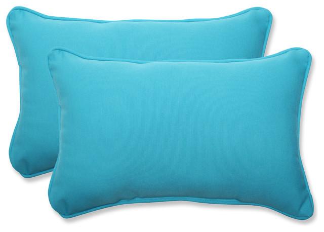 Veranda Turquoise Rectangular Throw Pillow Set of 2