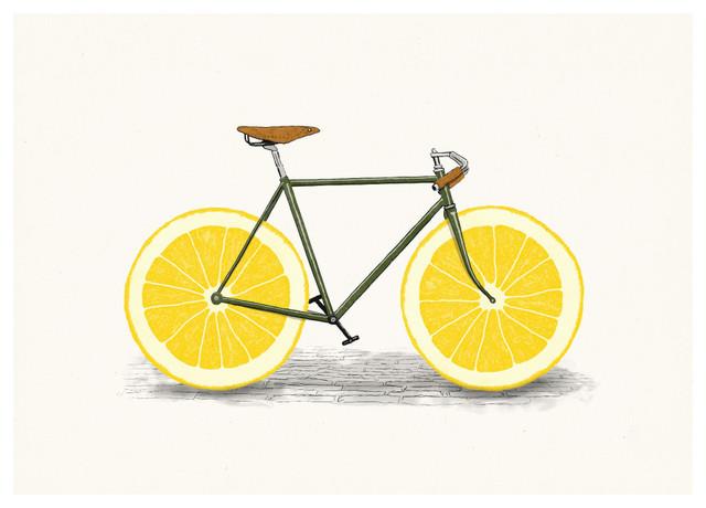 My Wonderful Walls Lemon Bicycle Wall Sticker Decal Zest