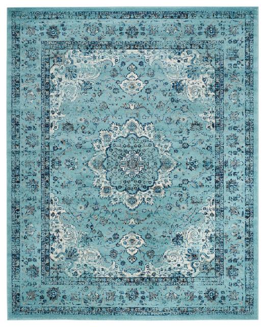 Quinlan Woven Area Rug, Light Blue, 8&x27;x10&x27;.