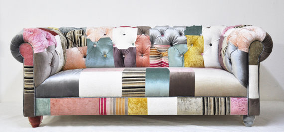 Chesterfield Patchwork Sofa By Name Design Studio