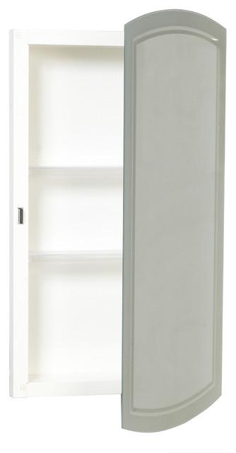 Zenith White Frameless Medicine Cabinet.