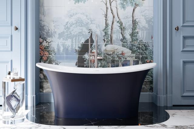 Victoria + Albert 60-inch tub bathroom