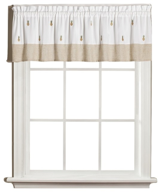 Welcome Pineapples Kitchen Curtain