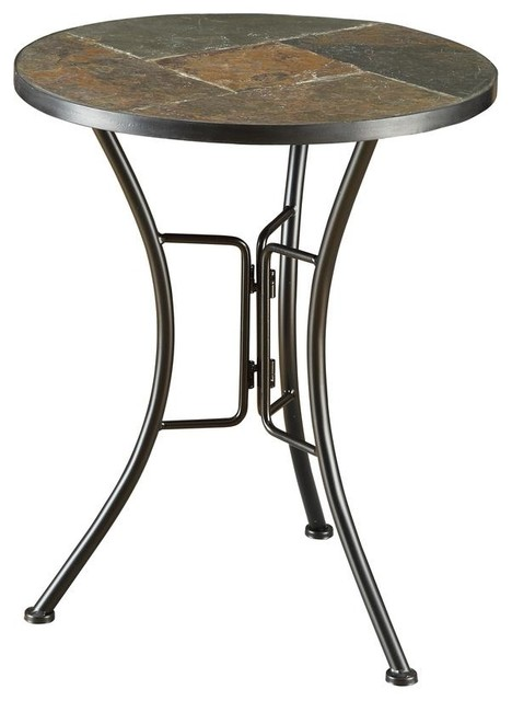 Slate Round Top End Table Transitional Coffee Tables By Virventures