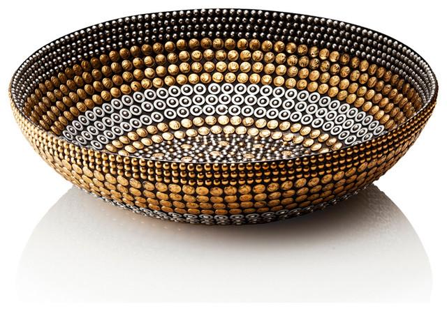 Bliss Home amp Design Black Silver Gold Bowl Decor