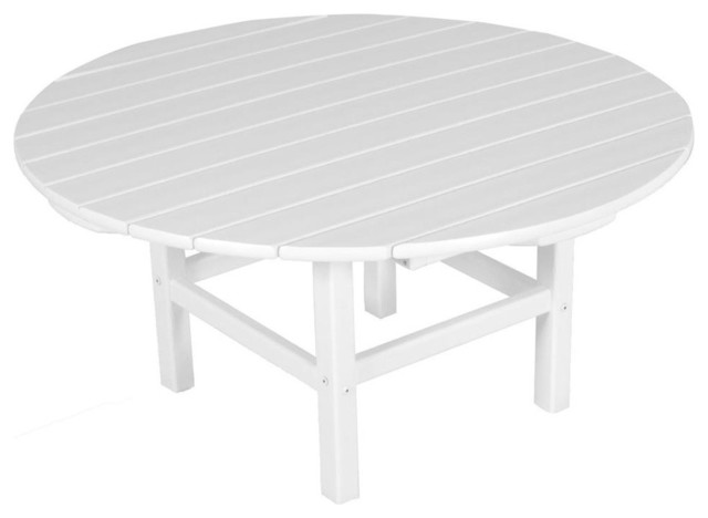Polywood eco friendly coffee table in white view in your room houzz Eco friendly coffee table