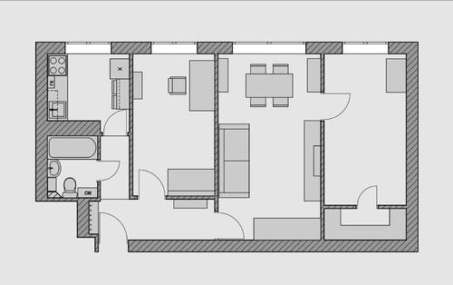 Houzz тур: Маленькая трёшка в скандинавском стиле для семьи дизайнера