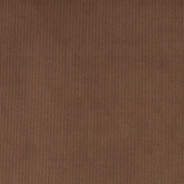 Brown Corduroy Thin Stripe Upholstery Velvet Fabric By The Yard
