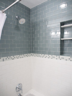 Lush 3x6 Glass Subway Tile Installations Eclectic Bathroom San Francisco By Modwalls